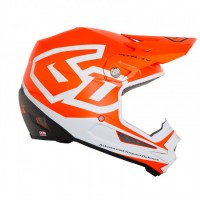 6D ATR-1Y Helmet Macro Neon Orange - YOUTH