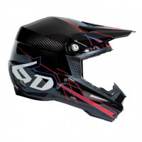 6D Helmet ATR-1 Carbon - Electric Red/Blue