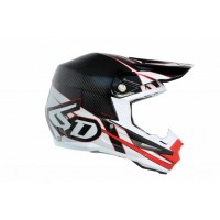 6D Helmet ATR-1 Carbon - Electric Red/White