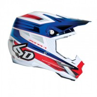 6D Helmet Pilot Red/White/Blue