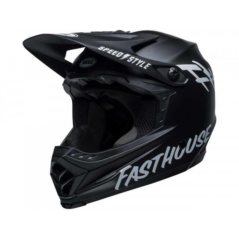 BELL Moto-9 Youth Mips Helm Fasthouse Matte Black/White